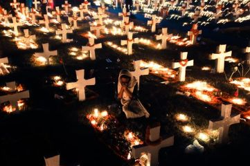 Cemetery in Dhaka, Bangladesh