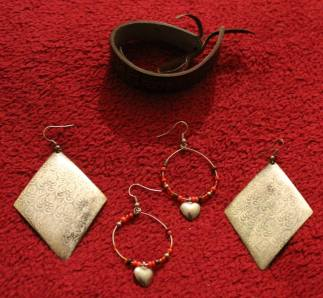 Earrings and a Bracelet